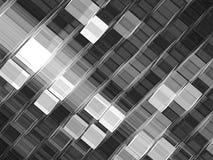 In kubussenachtergrond - abstract digitaal geproduceerd beeld Stock Foto's