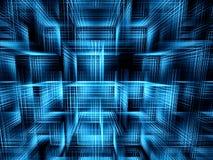 Kubussenachtergrond - abstract digitaal geproduceerd beeld Stock Afbeeldingen