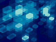 Kubussenachtergrond - abstract digitaal geproduceerd beeld Stock Fotografie