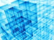 Kubussenachtergrond - abstract digitaal geproduceerd beeld Royalty-vrije Stock Afbeelding