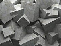 Kubussenmuur Stock Afbeeldingen