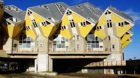 Kubuswoningen eller kubhus i Rotterdam. Royaltyfri Fotografi