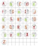 kubvektor för alfabet 3d vektor illustrationer