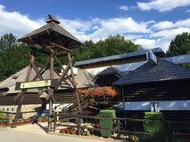 Kuca de Licka de restaurant ou kuca de Licka de restoran de nacionalni dans le jezera de Plitvicka de parc national de lacs Plitv image libre de droits