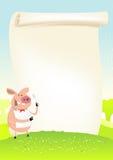 kucbarska śródpolna śmieszna świniowata wiosna royalty ilustracja