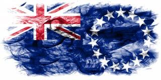 Kucbarskich wysp dymu flaga, Nowa Zaeland terytorium zależna flaga Zdjęcia Royalty Free