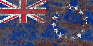 Kucbarskich wysp grunge flaga, Nowa Zaeland terytorium zależna flaga Zdjęcie Royalty Free