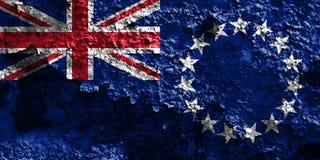 Kucbarskich wysp grunge flaga, Nowa Zaeland terytorium zależna flaga Fotografia Royalty Free
