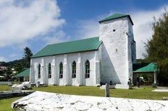 Kucbarskich wysp ludzie one modlą się przy kościół CICC Obraz Royalty Free