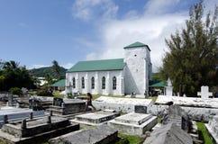 Kucbarskich wysp ludzie one modlą się przy kościół CICC Obraz Stock