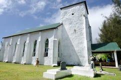 Kucbarskich wysp ludzie one modlą się przy kościół CICC Zdjęcie Stock