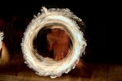 Kucbarskich wysp tancerza polynesian płomienie Obraz Stock