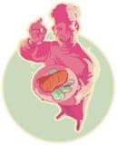 kucbarskiego oświetlenia różowy ja target1339_0_ Ilustracja Wektor