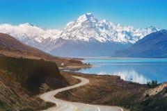 kucbarskiej góry nowa droga Zealand zdjęcie royalty free