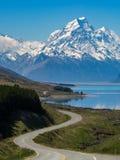 kucbarskiej góry nowa droga Zealand obraz stock