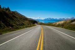 kucbarskiej góry nowa droga Zealand zdjęcia royalty free