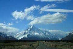 kucbarskiej góry nowa droga Zealand zdjęcie stock