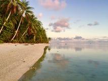 Kucbarskiej wyspy zmierzch fotografia stock