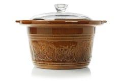 kucharstwo ceramiczny garnek obraz royalty free