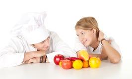 kucharzów owoc drużynowi warzywa Zdjęcia Royalty Free