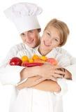kucharzów owoc drużynowi warzywa Zdjęcie Stock