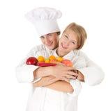 kucharzów owoc drużynowi warzywa Obrazy Stock