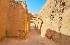 Kuche-Durchgänge in Yazd, der Iran stockfotografie