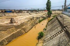 Kuche River Bank, china royalty free stock photo