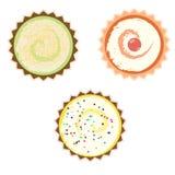Kuchen über weißem Hintergrund lizenzfreie abbildung