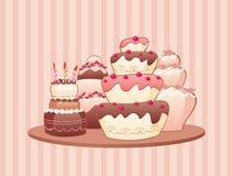Kuchen stock abbildung