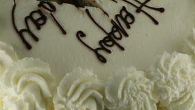 Kuchen-alles Gute zum Geburtstag stock footage