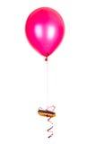 Kuchen auf Ballon Lizenzfreie Stockfotos