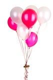 Kuchen auf Ballonen Stockfoto