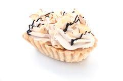 Kuchen auf einem weißen Hintergrund Lizenzfreies Stockbild
