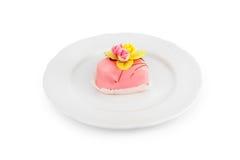 Kuchen auf einer Platte Lizenzfreies Stockfoto