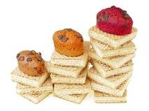 Kuchen auf Oblatendiagramm Lizenzfreie Stockbilder