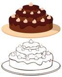Kuchen auf Platte Stockfoto