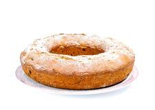 Kuchen auf Platte Lizenzfreies Stockbild