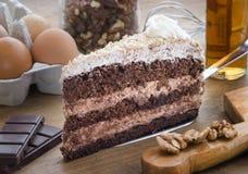 Kuchen choco 1 lizenzfreie stockfotos