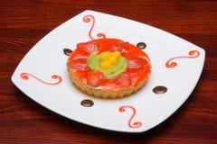 Kuchen der Erdbeere Stockfoto