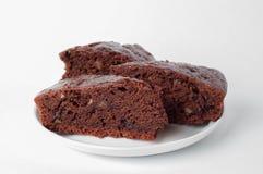 Kuchen der Schokolade drei Stockbild