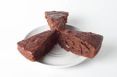 Kuchen der Schokolade drei Stockfotografie