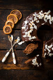 Kuchen der süßen Schokolade Stockbild