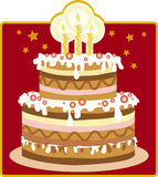 Kuchen des Geburtstages Lizenzfreie Stockfotografie