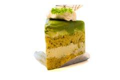 Kuchen des grünen Tees Lizenzfreies Stockfoto