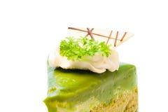 Kuchen des grünen Tees Lizenzfreie Stockbilder