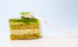 Kuchen des grünen Tees Stockbild