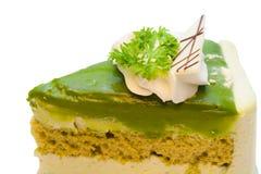 Kuchen des grünen Tees Lizenzfreies Stockbild