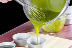 Kuchen des grünen Tees Stockfoto