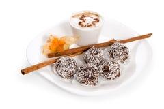 Kuchen des Kaffees Lizenzfreies Stockbild